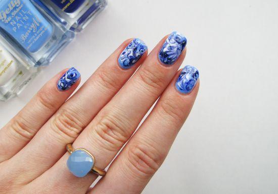 marble nail tutorial