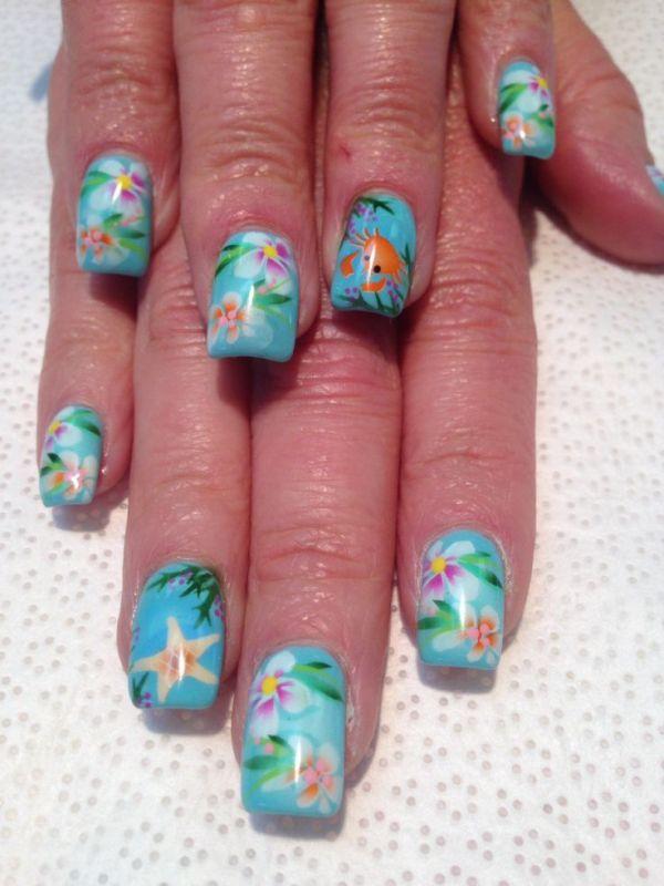 nail art tutorials - 18 Tropical Nail Art Tutorials For Summer Nail Design Ideaz