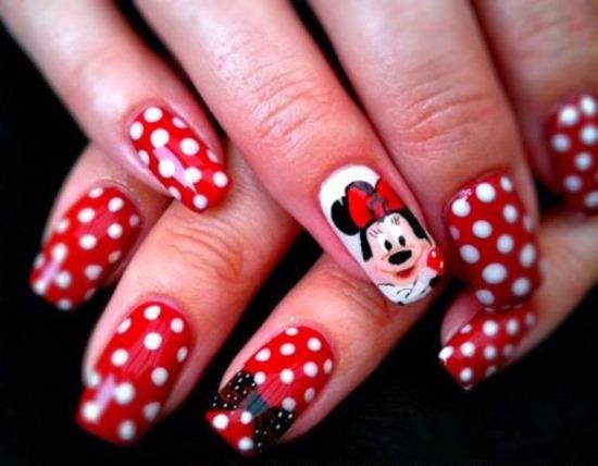 51 funny cartoon nail art designs nail design ideaz cartoon nail art designs prinsesfo Image collections