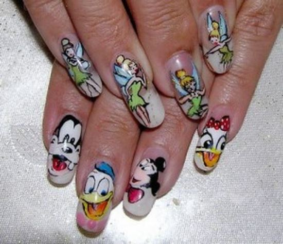 Cartoon Nail Art Designs