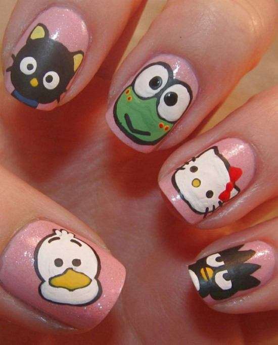 Cartoon Nail Art Ideas - 51 Funny Cartoon Nail Art Designs Nail Design Ideaz