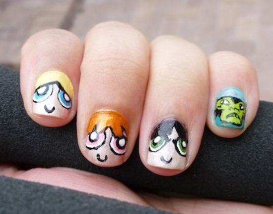 Cartoon Nail Art Ideas - 51 Funny Cartoon Nail Art Designs Nail Design Ideaz