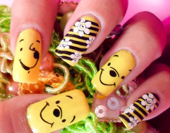 Cartoon Nails - 51 Funny Cartoon Nail Art Designs Nail Design Ideaz