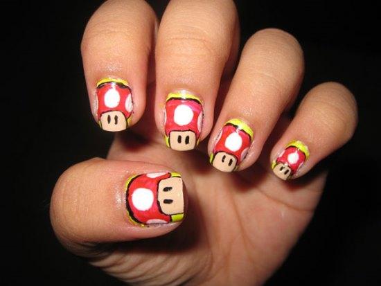 51 funny cartoon nail art designs nail design ideaz cartoon nail art ideas prinsesfo Image collections