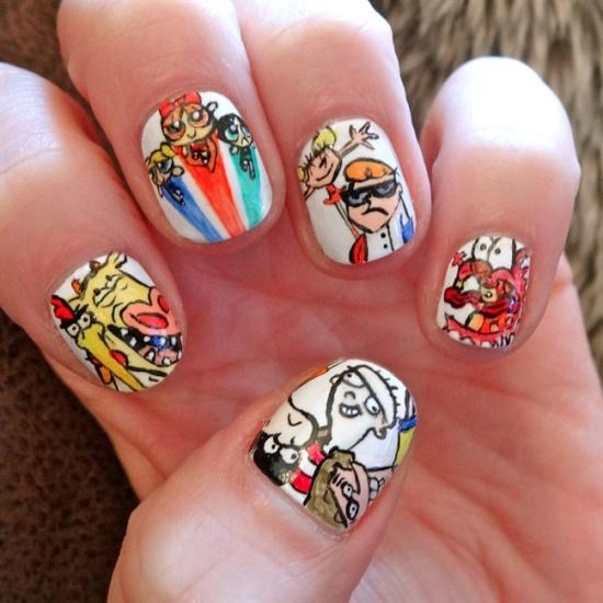 51 Funny Cartoon Nail Art Designs Nail Design Ideaz
