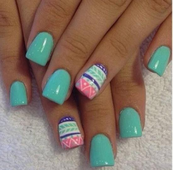 45 Cute Mint Nail Art Ideas For Summer Nail Design Ideaz