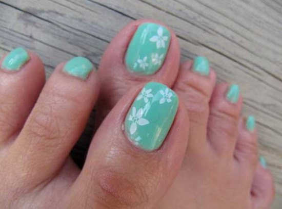 Mint Green Nails - 45 Cute Mint Nail Art Ideas For Summer Nail Design Ideaz