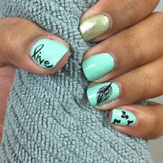 Mint Nails. Image Credit: naildesigns - 45 Cute Mint Nail Art Ideas For Summer Nail Design Ideaz