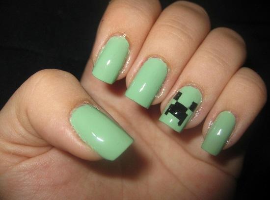 Summer Nail Designs - 45 Cute Mint Nail Art Ideas For Summer Nail Design Ideaz