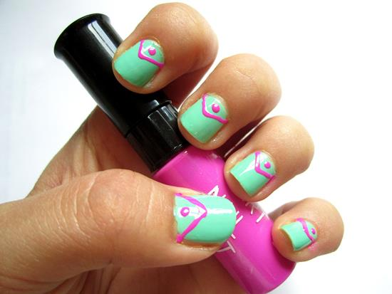 45 cute mint nail art ideas for summer nail design ideaz summer nail designs prinsesfo Gallery