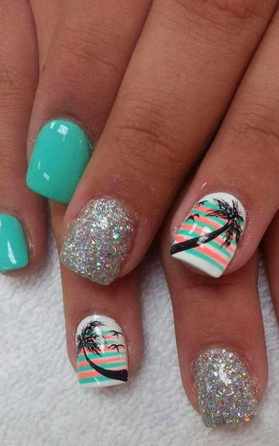 tropical nail art ideas - Hot Designs Nail Art Ideas