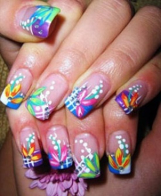 Hot Designs Nail Art Ideas simple hot pink nail polish designs facebook art pictures Tropical Nail Designs