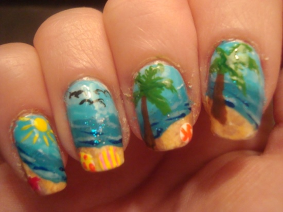 Summer Nail Designs - 50 Tropical Nail Art Designs For Summer Nail Design Ideaz
