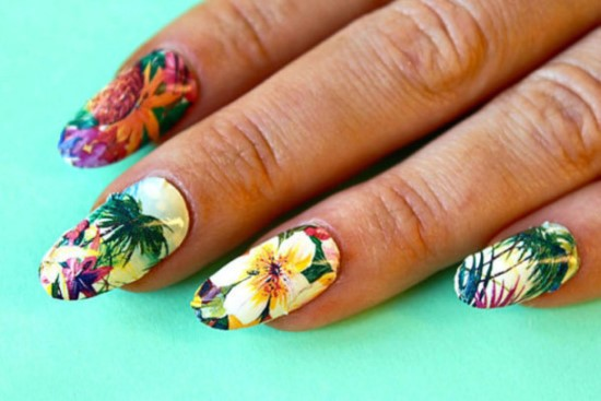 Tropical Nail Art Ideas