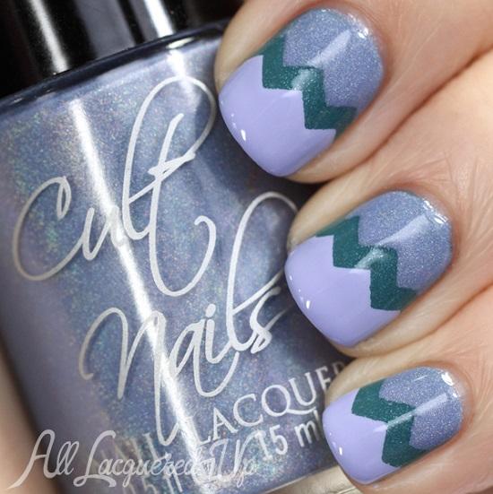 Perky Purple Chevron Nails