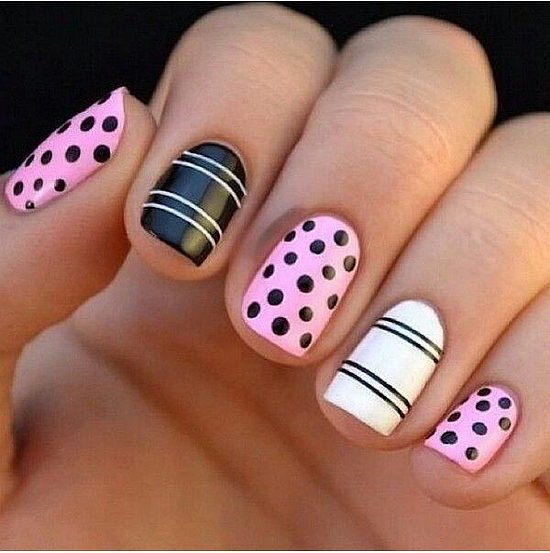 Polka dots nail art - 18 Lovely Polka Dot Nail Art Tutorials Nail Design Ideaz
