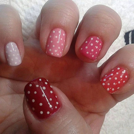 18 Lovely Polka Dot Nail Art Tutorials Nail Design Ideaz