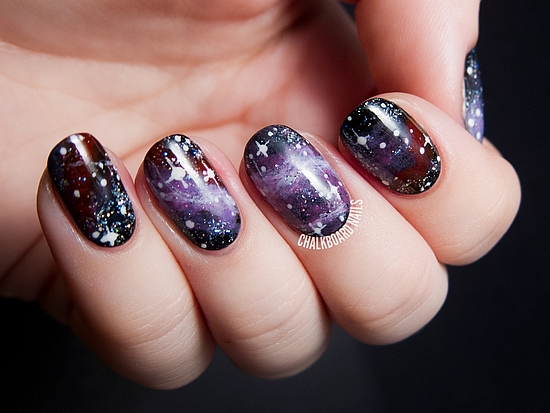 Galaxy Nail Designs - 45 Gorgeous Galaxy Nail Art Designs Nail Design Ideaz