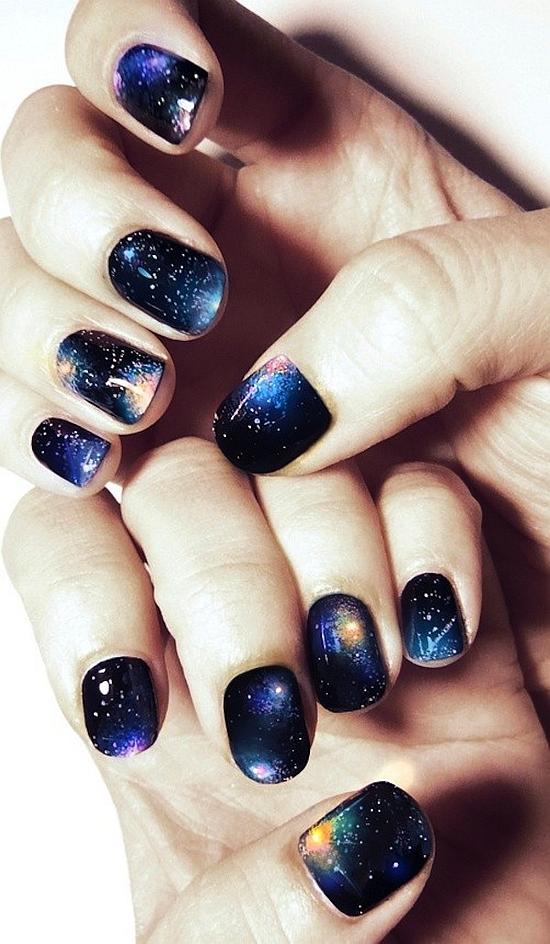 45 gorgeous galaxy nail art designs nail design ideaz image credit nails designs galaxy prints solutioingenieria Images