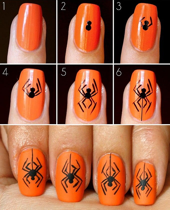 20 Best Halloween Nail Art Tutorials | Nail Design Ideaz