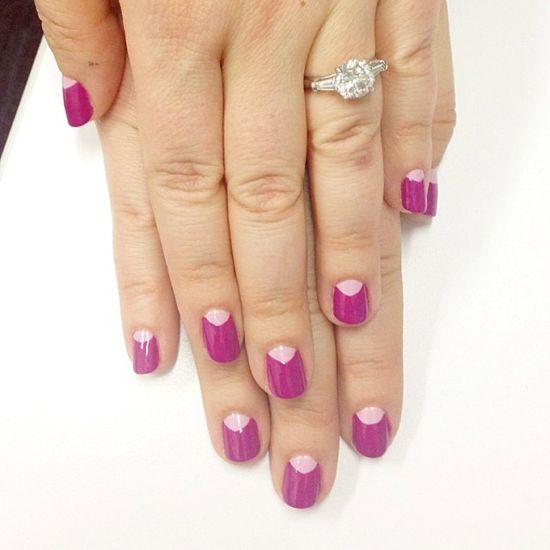 Bridal Half Moon Nails