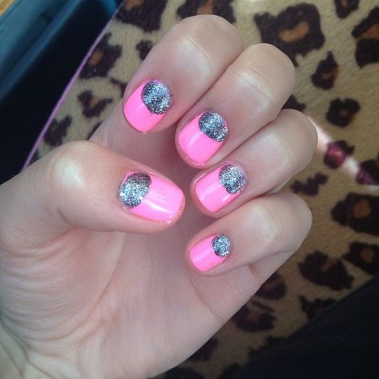 Half Moon Manicure