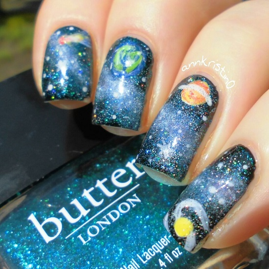 Bright Galaxy Nail Tutorials