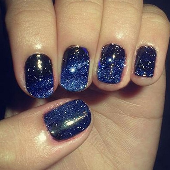 Bright Star Galaxy Nails