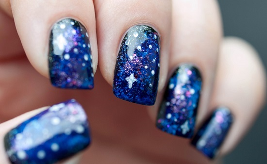 Far Away Passion Galaxy Nail Art