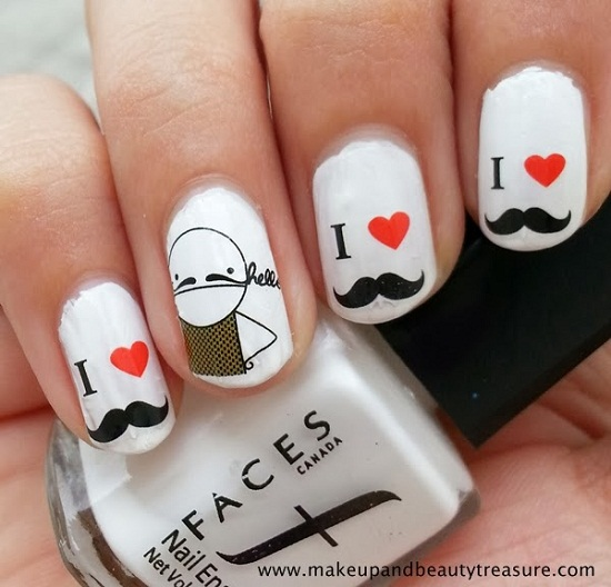 I LOVE YOU Mustaches