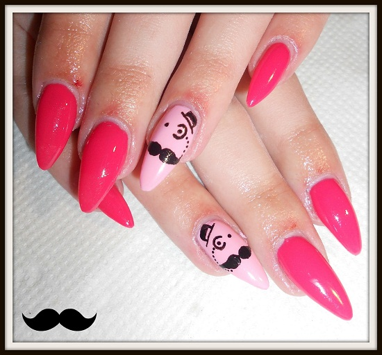 Investigative Mustache Nails