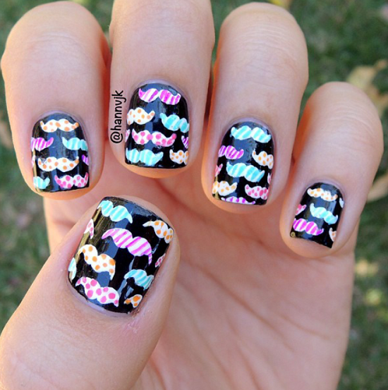 Million Mustache on Nails