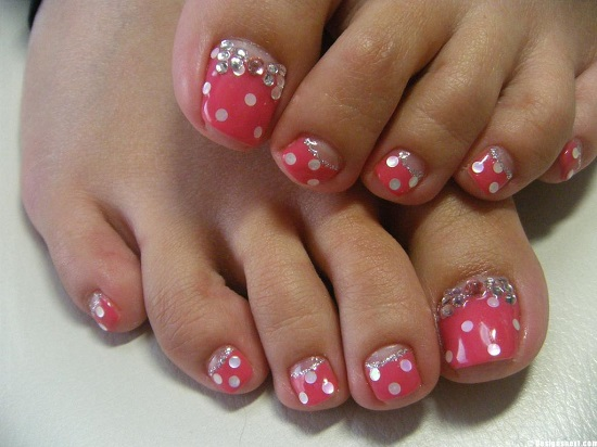 21 wedding toe nail art designs nail design ideaz stunning flower toe nail art prinsesfo Images