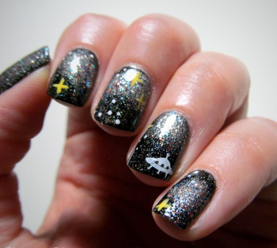 UFO Nail Art Tutorial