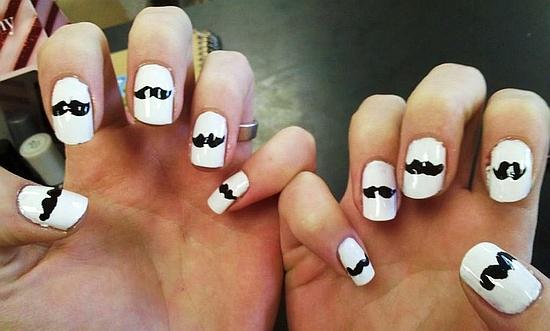 Mustache Nail Designs