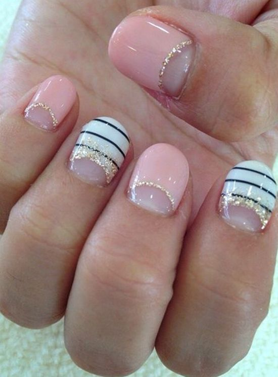 Half Moon Manicure - 51 Stunning Half Moon Nail Art Designs Nail Design Ideaz