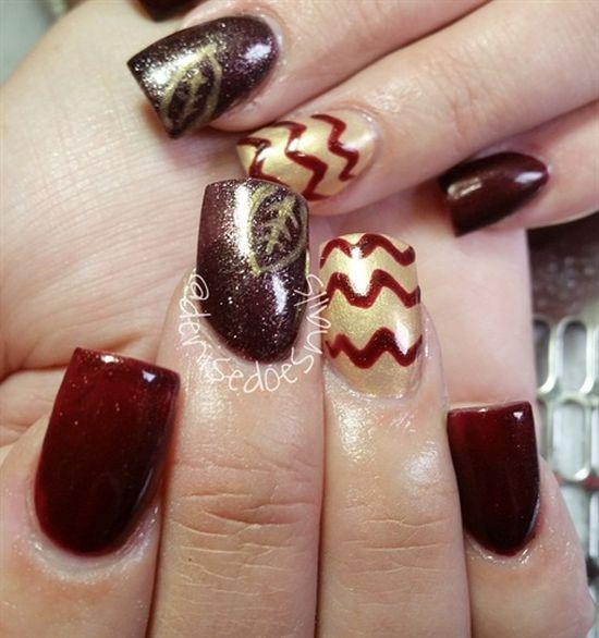Chevron Nail Art Designs