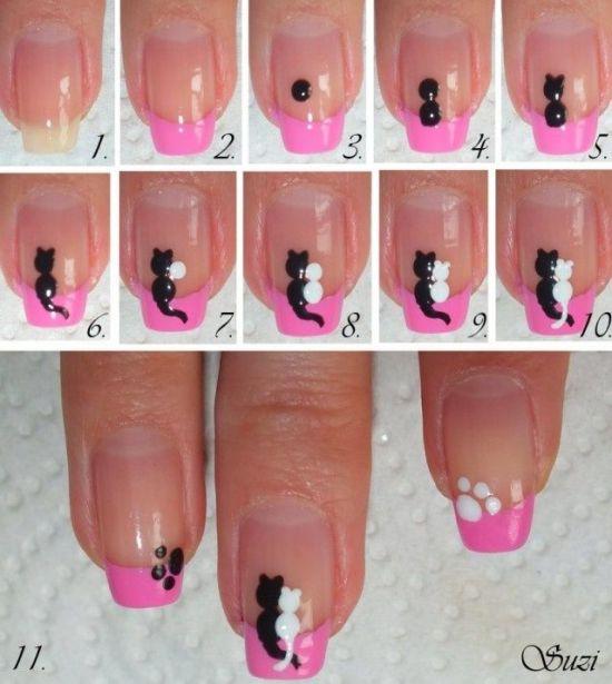 Рисунки на ногтях для начинающих в домашних условиях шеллак