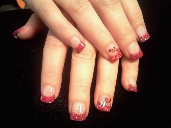 Gel Nail Designs - 45 Gorgeous Valentines Day Acrylic Nail Designs