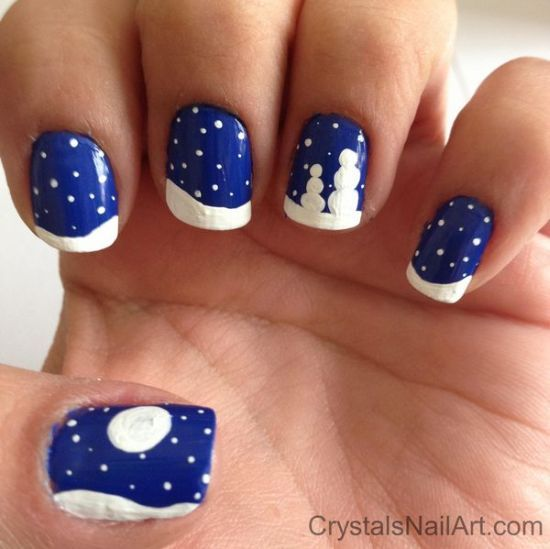 Christmas Nail Designs Tutorial: 20 Easy Winter Nail Art Tutorials