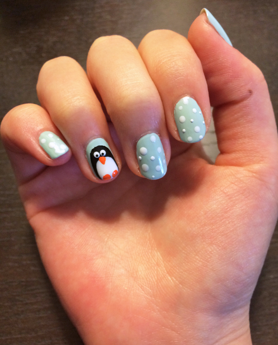 Easy To Do Winter Nail Art - NailArts Ideas