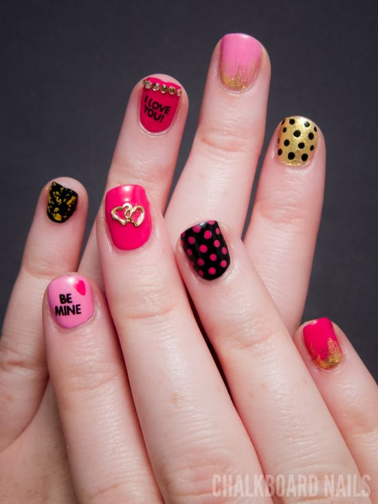 18 Step By Step Valentines Nail Art Tutorials