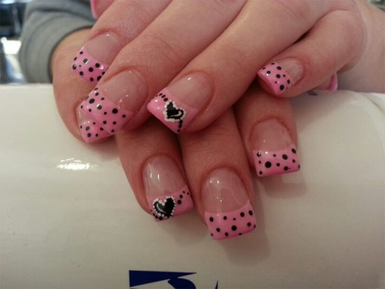 45 gorgeous valentines day acrylic nail designs valentines day nails prinsesfo Choice Image