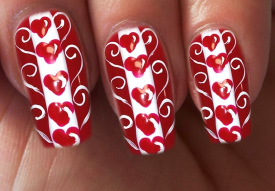 valentines day nails - Valentines Nail