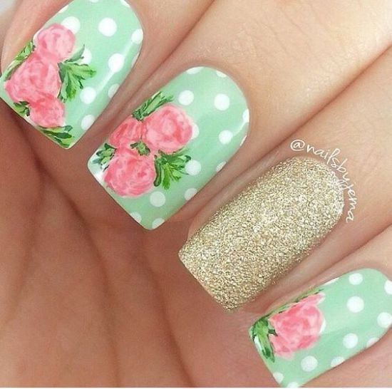 Roses Nail Art - 50 Creative Rose Nails Designs Nail Design Ideaz