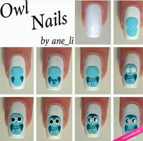 21 Rocking Owl Nail Art Tutorials Nail Design Ideaz