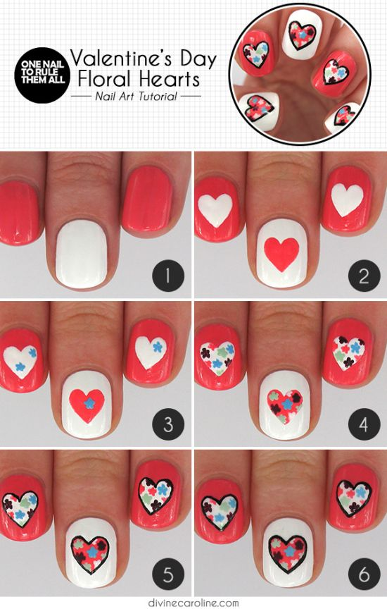 18 Step By Valentines Nail Art Tutorials