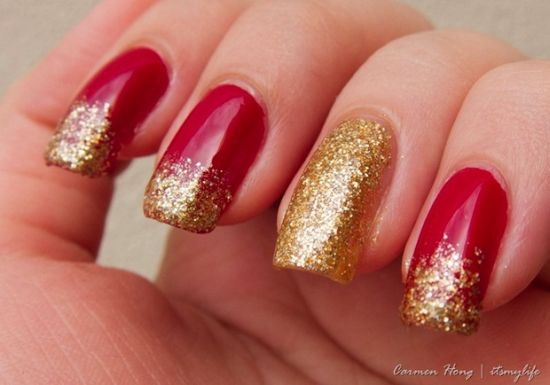 Top 50 Golden Wedding Nail Designs Nail Design Ideaz