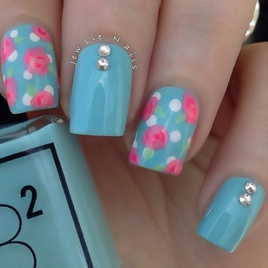 50 creative rose nails designs nail design ideaz rose nail art prinsesfo Gallery