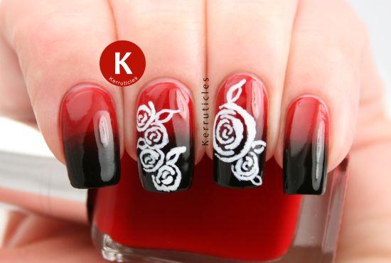 50 creative rose nails designs nail design ideaz rose nail art prinsesfo Choice Image